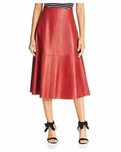 kate spade new york Leather Midi Skirt