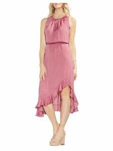 Sapphire Bloom Blouson Dress