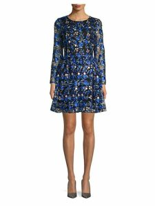 Sedona Embroidered Floral Lace A-Line Dress