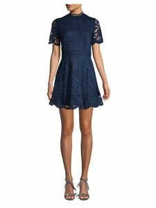 Floral Fit-&-Flare Mini Dress
