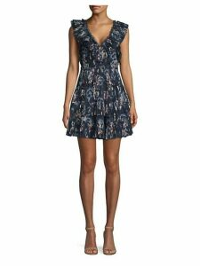 Silk Tiered Ruffle Dress