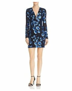 Bronx And Banco Sapphire Sequined Floral Mini Dress