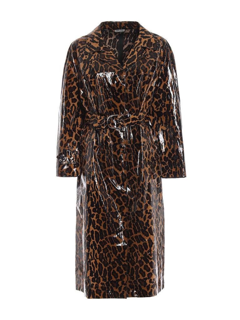 Miu Miu Leopard Raincoat