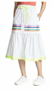 Mira Mikati Twill Stripe Skirt