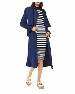 Michael Michael Kors Belted Tie-Detail Trench Coat