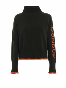 Dondup Pullover With Contrasting Logo Knit