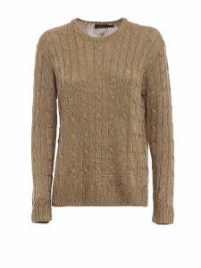 Polo Ralph Lauren Gold Lurex Viscose Yarn Sweater