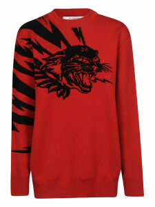 Givenchy Flying Cat Jacquard Sweater