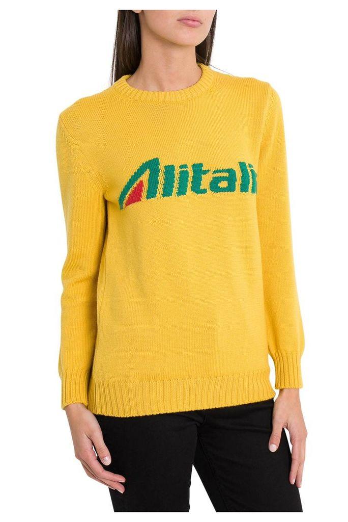 Alberta Ferretti Alitalia Sweater By Alberta Ferretti