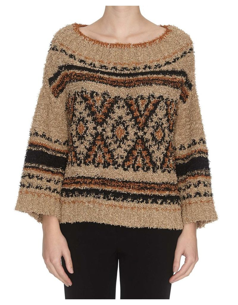 Alberta Ferretti Cropped Sweater