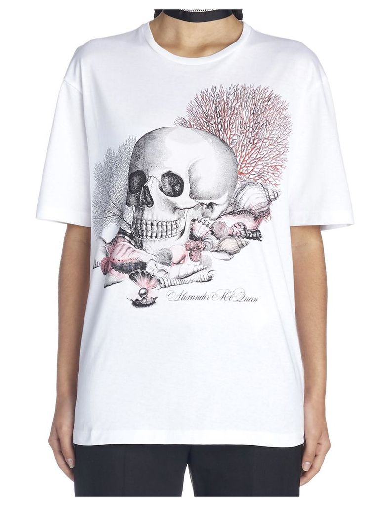 Alexander Mcqueen 'coral Skull' T-shirt