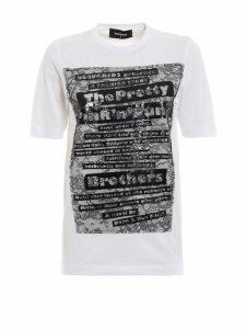 Dsquared2 Lace-detail T-shirt