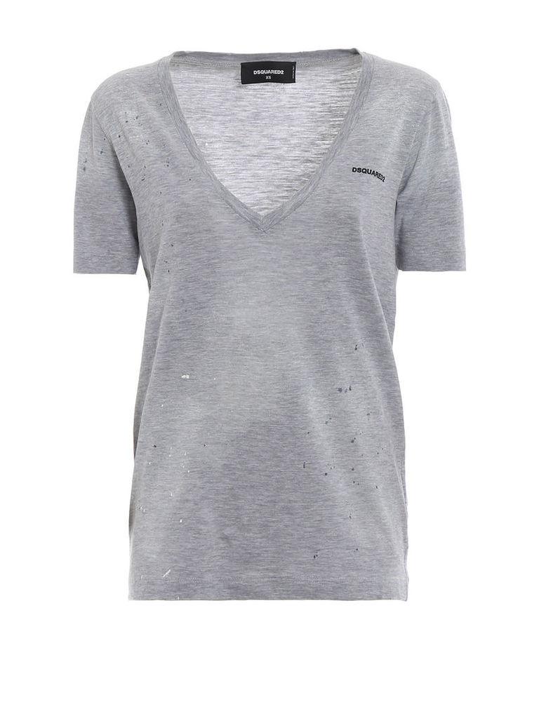 Dsquared2 Low V-neck T-shirt