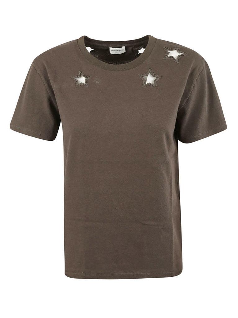Saint Laurent Star Cut-out T-shirt