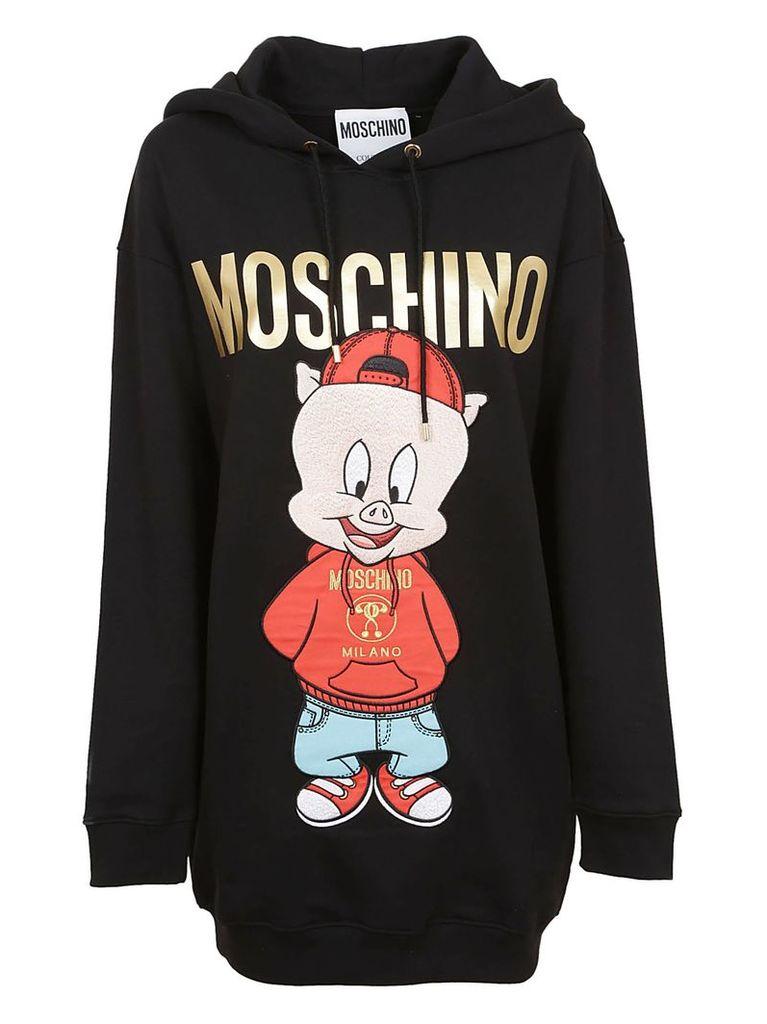 Moschino Printed Logo Hoodie