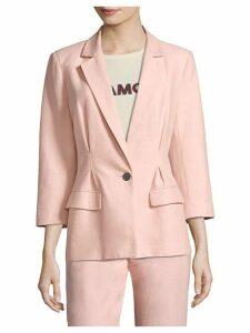 Lian Cotton-Blend Blazer