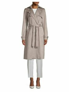 Mel Faux Suede Trench Coat