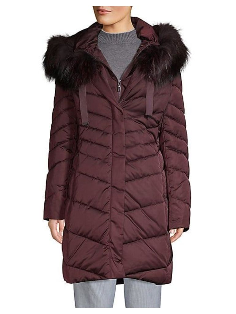 Jolene Fox Fur Trim Longline Parka