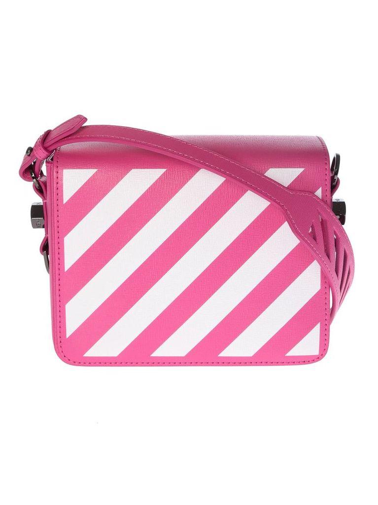 Off-white Diagonal Striped Shoulder Bag
