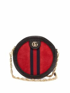 Gucci - Ophidia Gg Leather And Suede Cross Body Bag - Womens - Red Multi