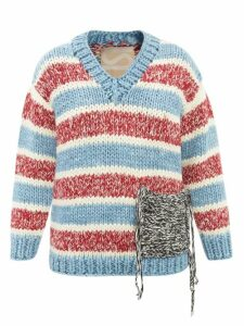Athena Procopiou - Mandrem Love Print Belted Silk Crepe Dress - Womens - Red White