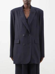 Toga - Floral Intarsia Wool Cardigan - Womens - Green