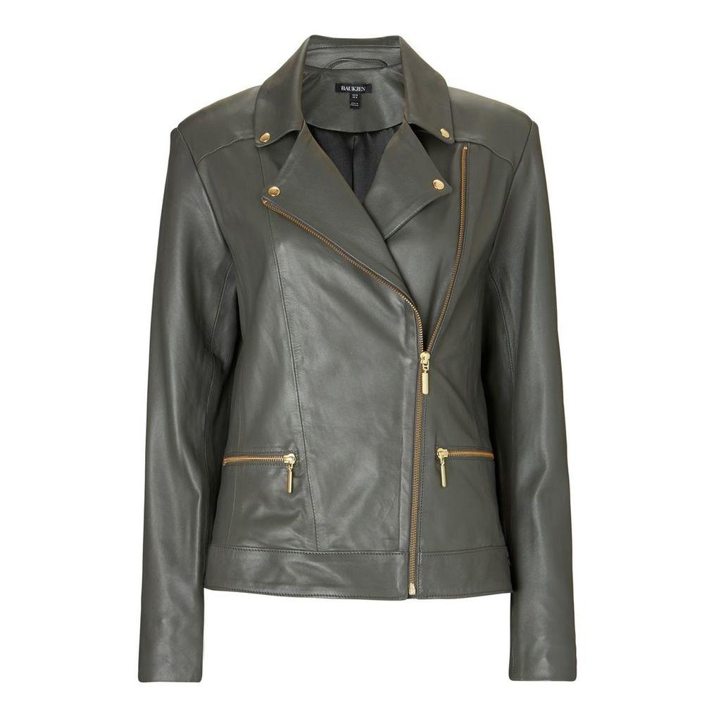 Baukjen - Kara Leather Jacket In Graphite