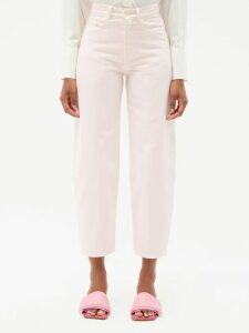 Gucci - Pleated Clover Print Silk Satin Skirt - Womens - Ivory Multi