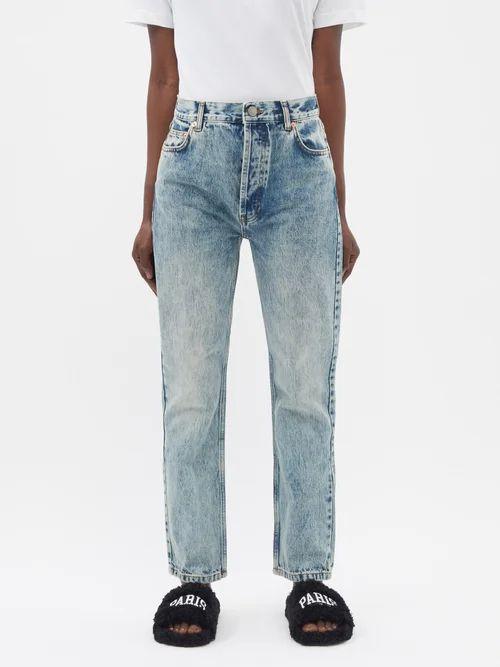 Joseph - Beth Cotton Midi Skirt - Womens - Navy