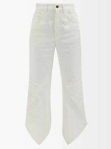 Roksanda - Zahida Pleated Insert Crepe De Chine Midi Dress - Womens - Black Multi