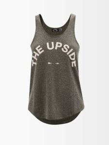 Herno - Contrast Panel Quilted Down Filled Coat - Womens - Green White