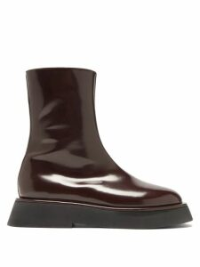 Herno - Double Layer Tweed Boucle Coat - Womens - Navy