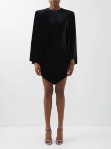 Alexander Mcqueen - Fringed Tweed Pencil Skirt - Womens - Black White