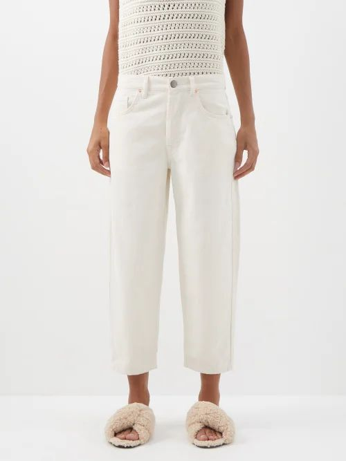 Alexander Mcqueen - Shell-print Lace-trimmed Wool And Silk-blend Skirt - Womens - Black White
