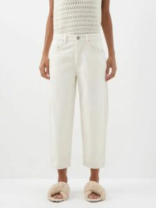 Alexander Mcqueen - Shell Print Lace Trimmed Wool And Silk Blend Skirt - Womens - Black White