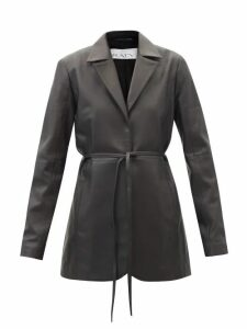 Sara Battaglia - Double Breasted Faux Leather Trench Coat - Womens - Ivory