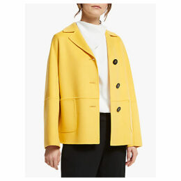 Weekend MaxMara Virgin Wool Coat, Yellow