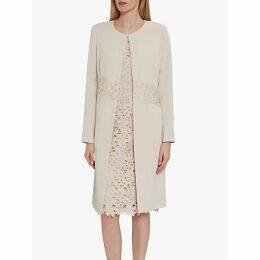Gina Bacconi Lacey Crepe Coat