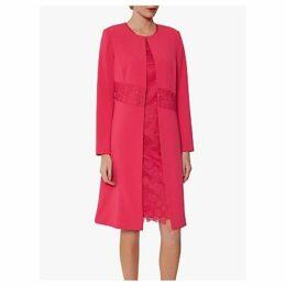 Gina Bacconi Tamina Lace Detail Crepe Coat