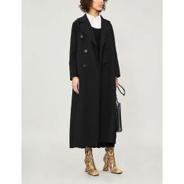 Custodi double-breasted brushed wool coat
