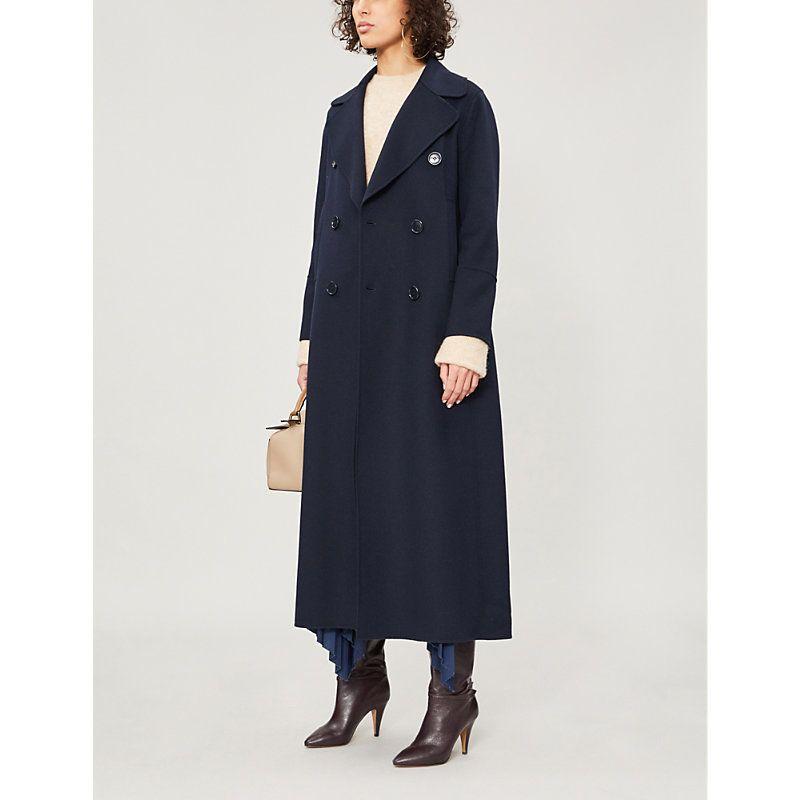 Custodi double-breasted brushed wool coat