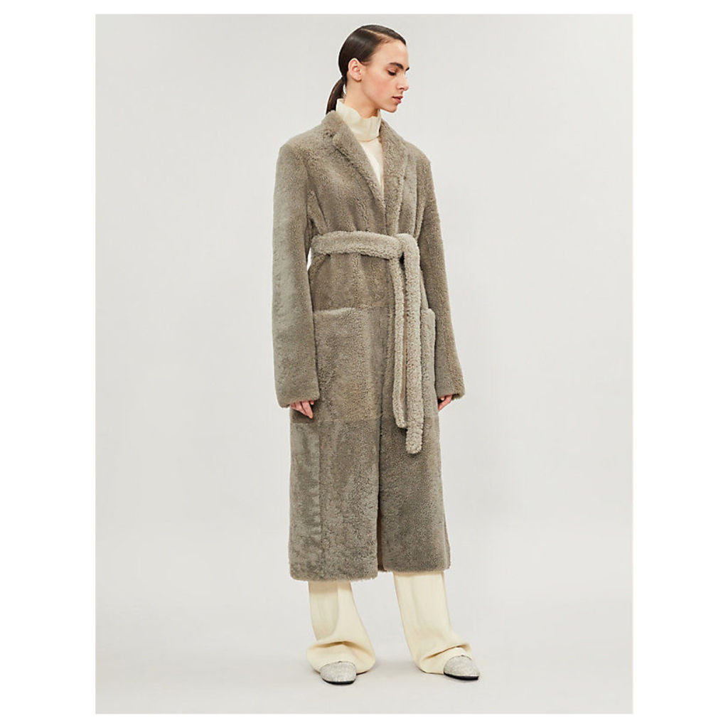 Muto belted shearling coat
