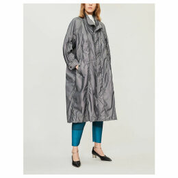 Ruched shell coat