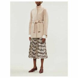 Alca belted cashmere coat