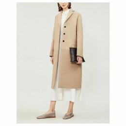 Textured twill coat