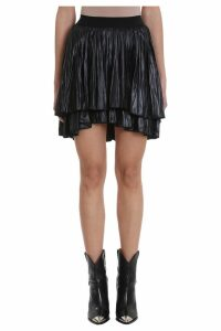 Isabel Marant Dinky Pleated Long-liquid Asymmetric Skirt