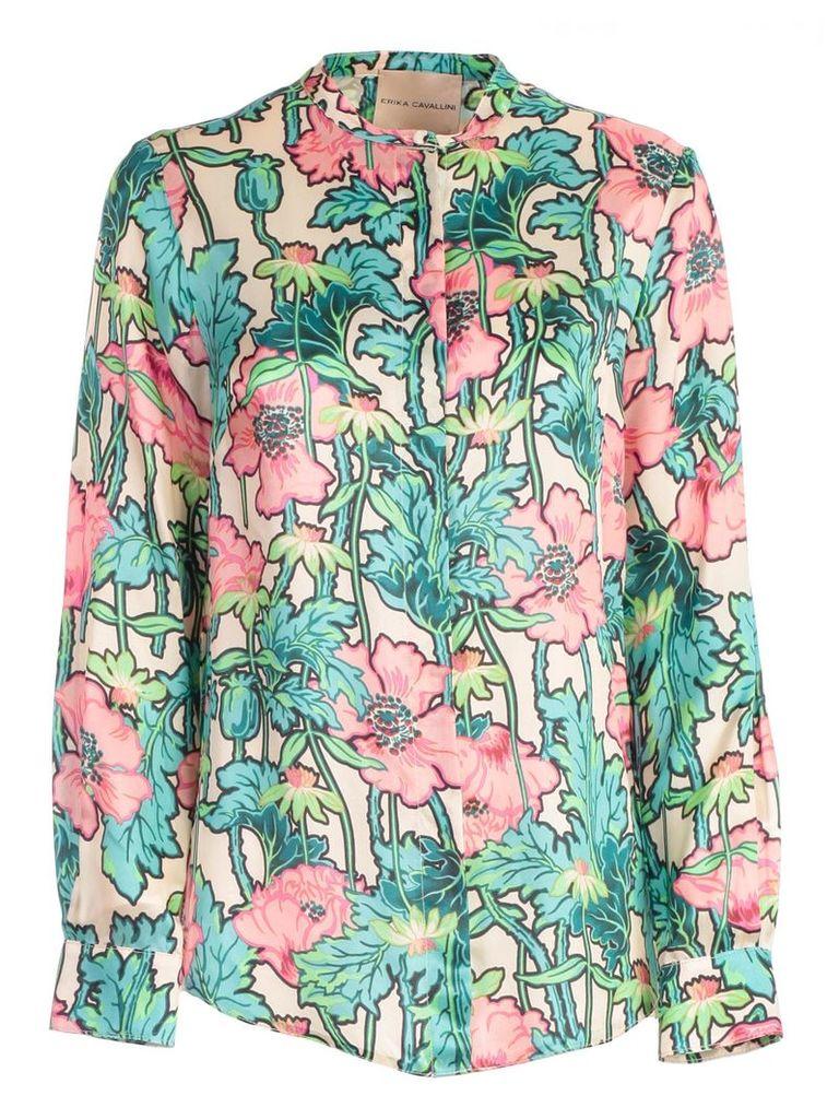 Erika Cavallini Floral Printed Shirt