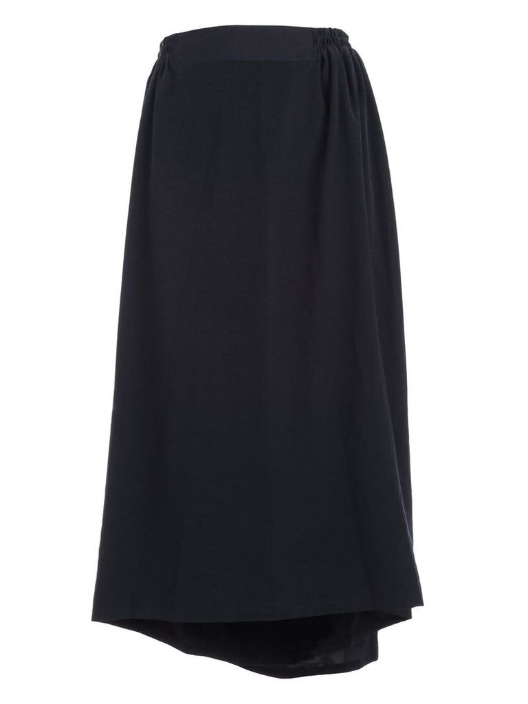 Ys Ribbed Waist Cropped Skirt