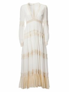 Philosophy di Lorenzo Serafini Long Ruffled Pleated Dress