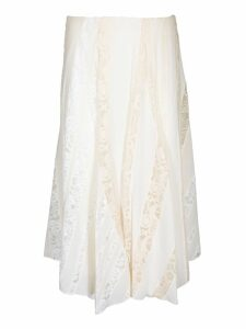 Chloé Lace Trim Midi Skirt